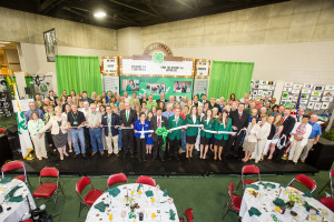 Ribbon Cutting of the new Cloverville in August, 2014 on the Cloverville Stage sponsored by the Kentucky 4-H Program.