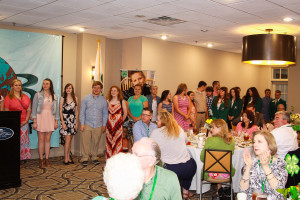 The 2014/15 State 4-H Teen Council joins the group for pledges and the opening program