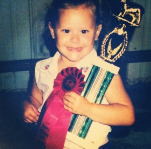 Kelsey, age 5, just won the first place novice showmanship at the Pendleton County Fair.